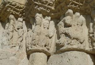 Détail du portail de l'église 12è