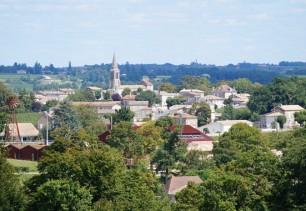 Village de Saint-Christophe vu de la Combe de la Barde